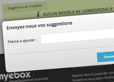 Suggestion de modèles