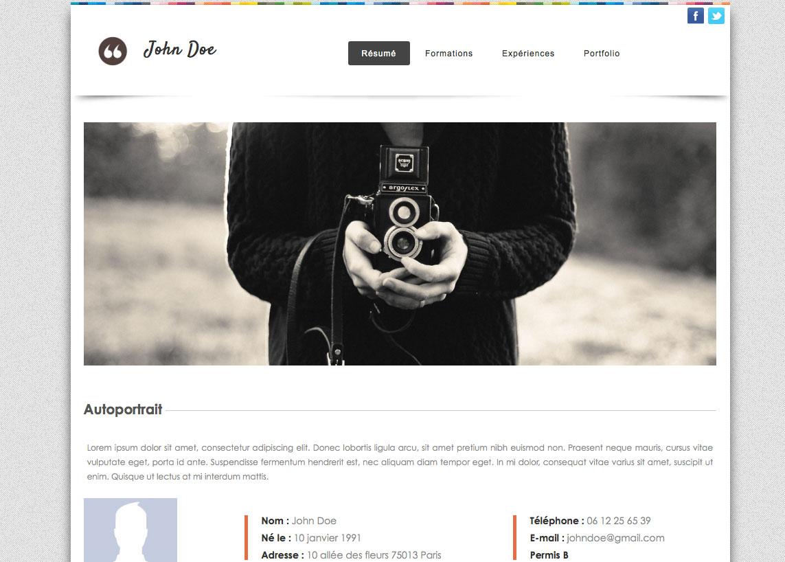 cv en ligne site Créer un site interpour son CV. Aucune connaissance requise  cv en ligne site